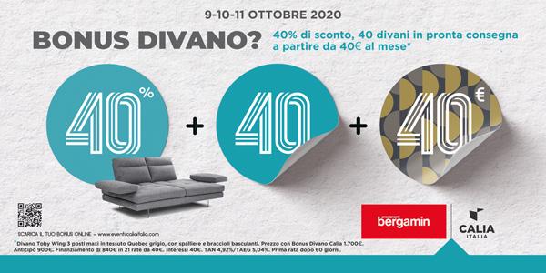 Promo 40 Calia Italia