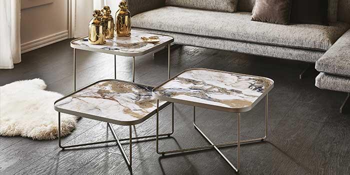 Composizione di tavolini keramik Cattelan Italia
