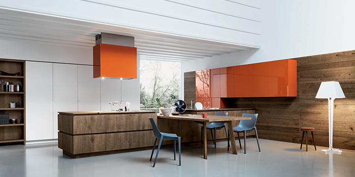 Cucina illuminata con faretti led e pintana